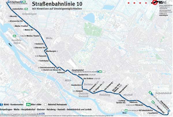 Bremen fahrplan bsag Buslinie 26